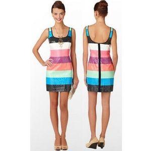 Lilly Pulitzer Lucy Multi Stripe Shift Mini Dress